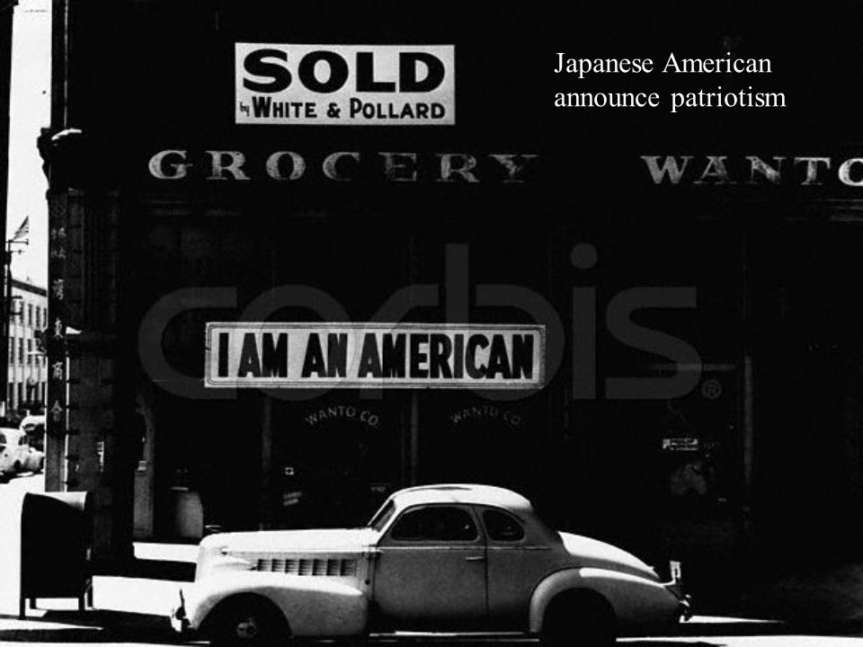 Japanese American announce patriotism