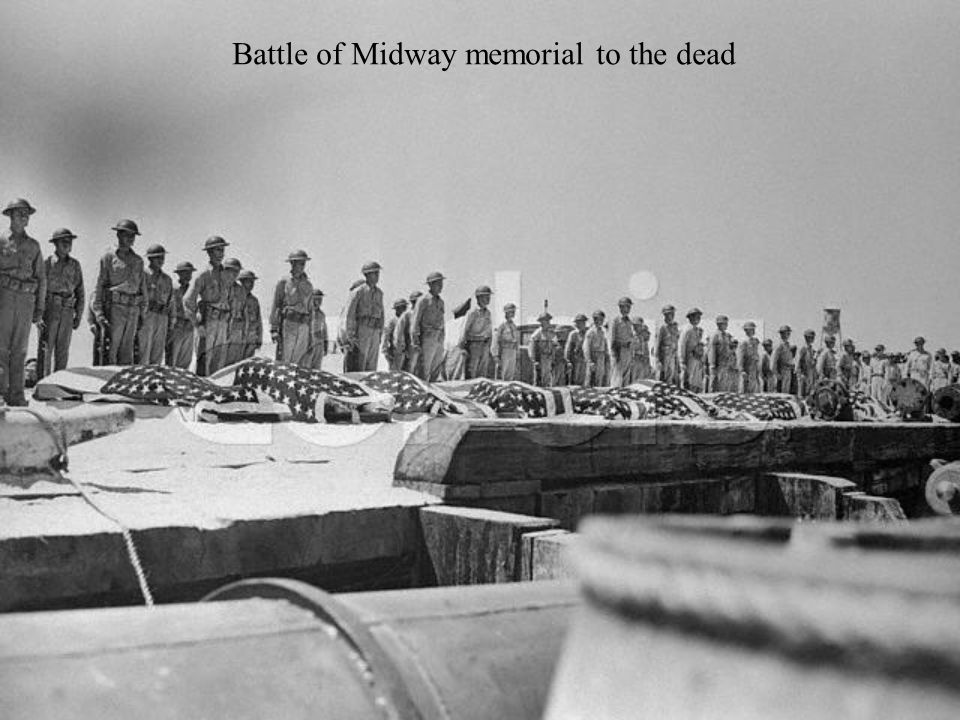 Battle of Midway memorial to the dead