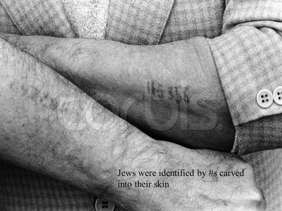 Jews were identified by #s carved into their skin
