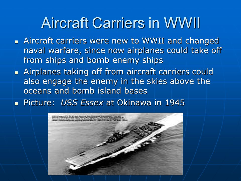 Aircraft Carriers in WWII