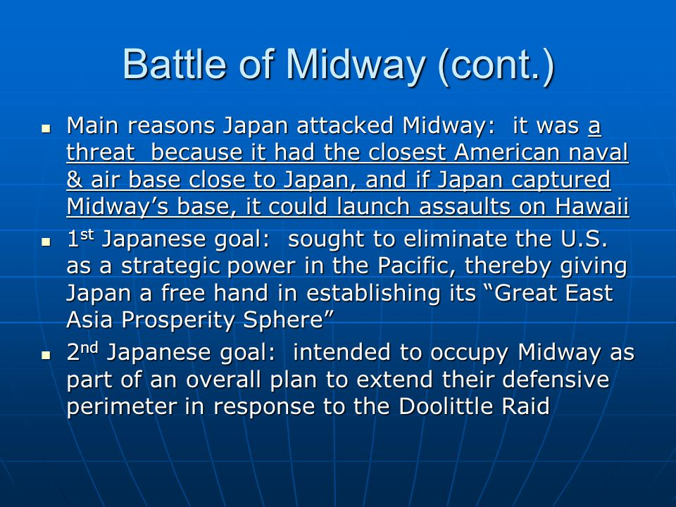 Battle of Midway (cont.)