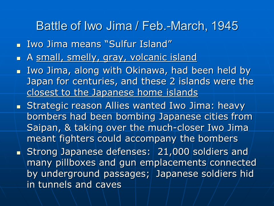 Battle of Iwo Jima / Feb.-March, 1945