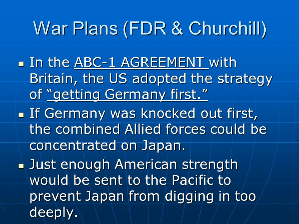 War Plans (FDR & Churchill)