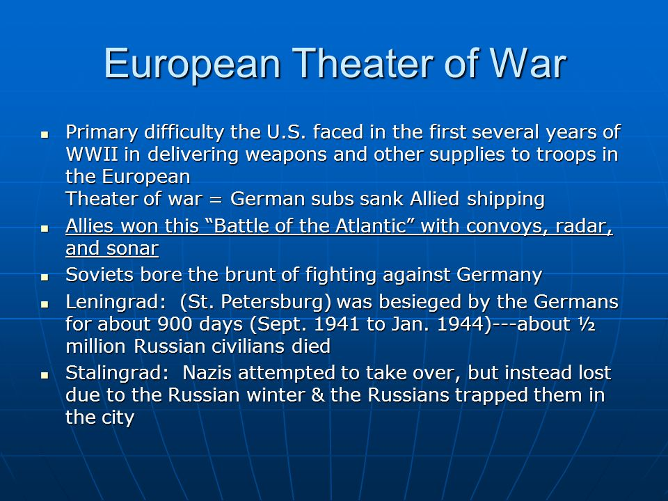 European Theater of War