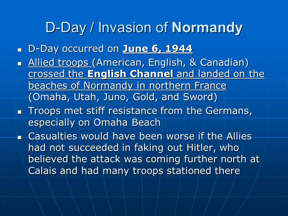 D-Day / Invasion of Normandy