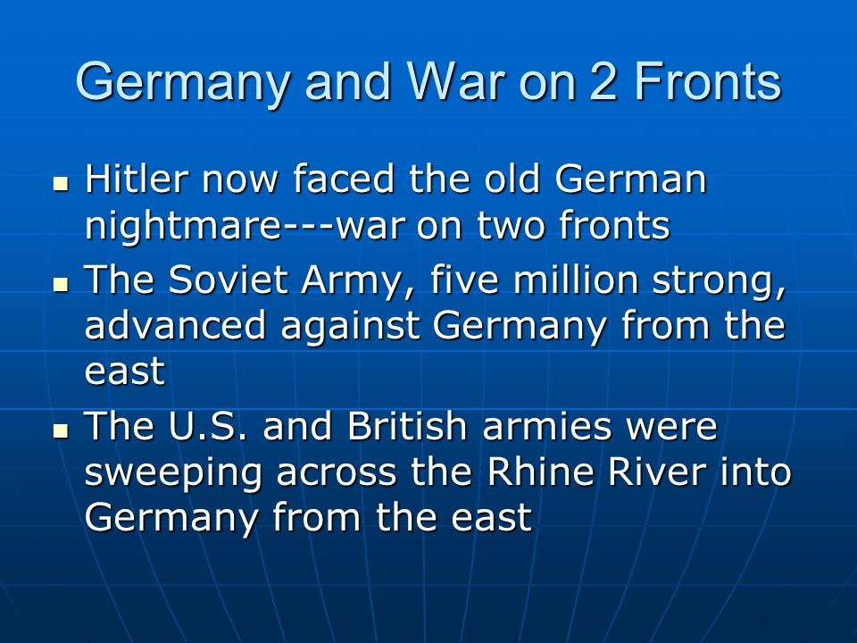 Germany and War on 2 Fronts