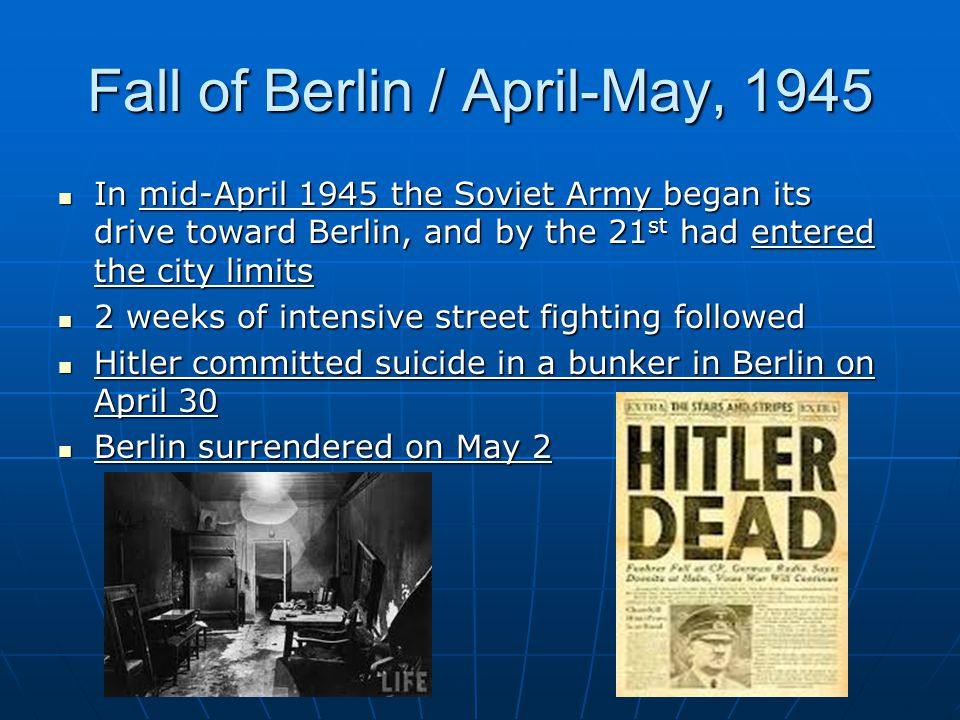 Fall of Berlin / April-May, 1945