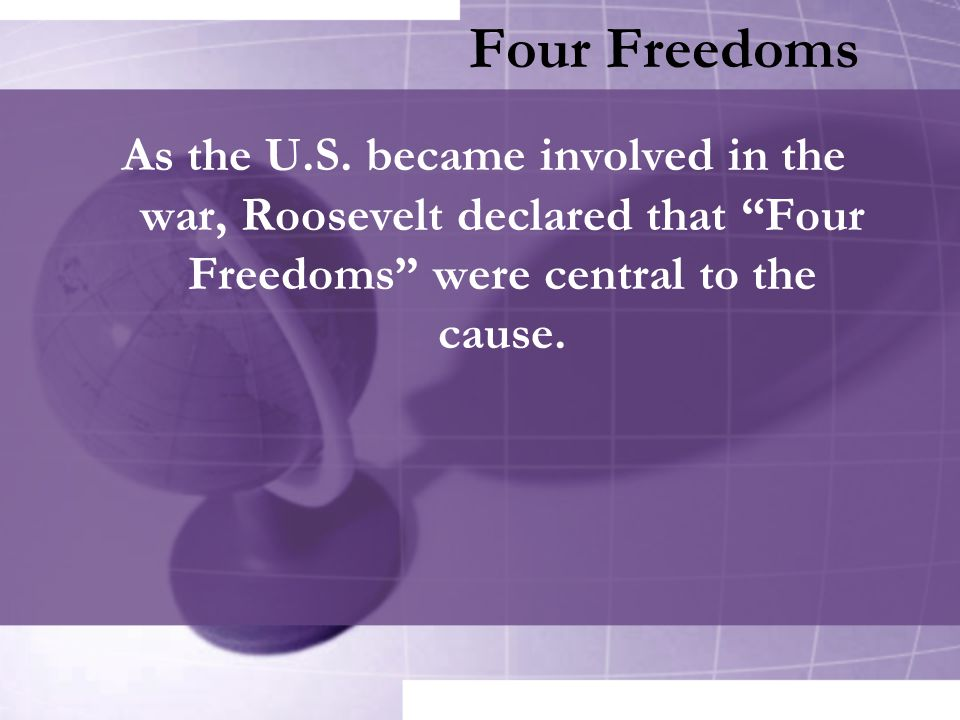 Four Freedoms As the U.S.