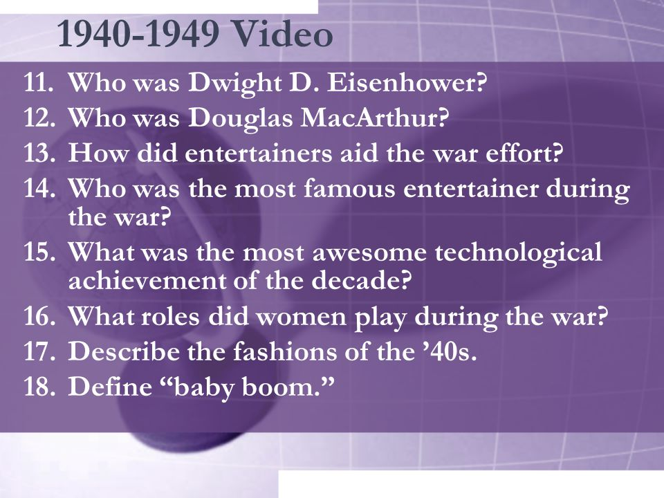 1940-1949 Video Who was Dwight D. Eisenhower