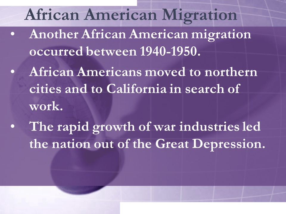 African American Migration