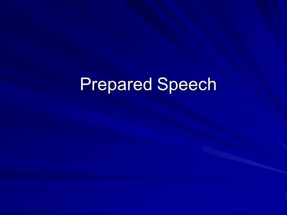 Prepared Speech