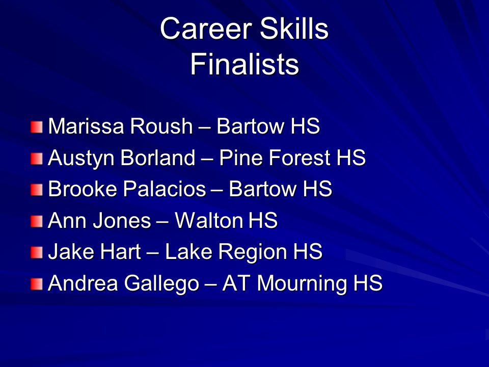 Career Skills Finalists