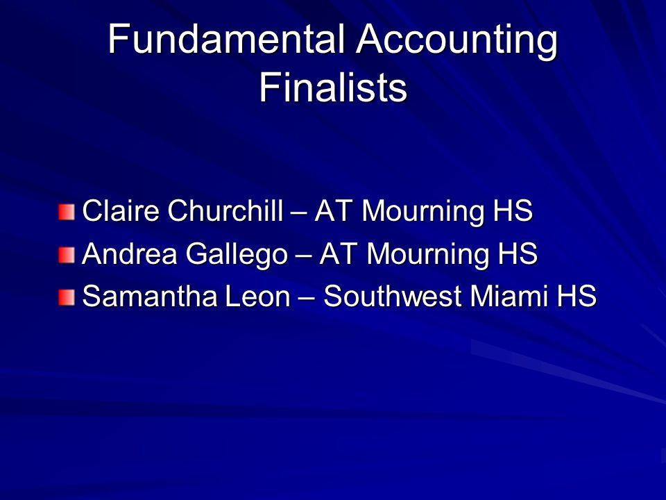 Fundamental Accounting Finalists