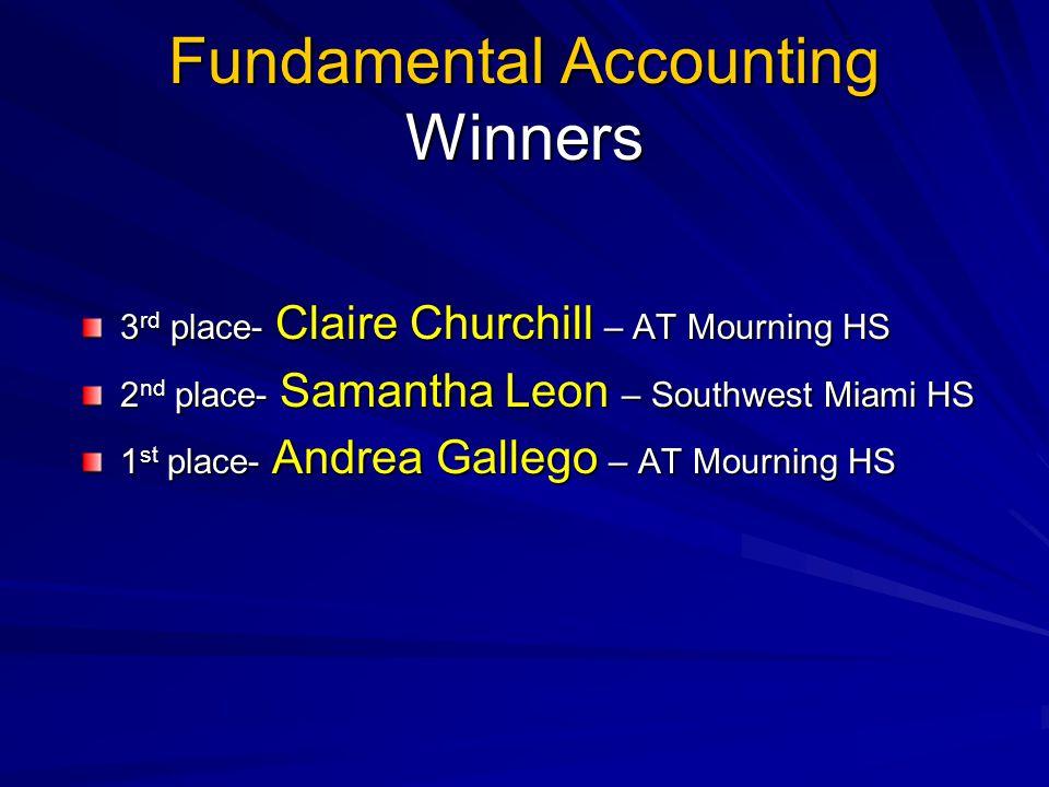 Fundamental Accounting Winners