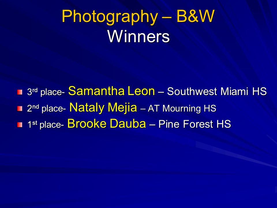 Photography – B&W Winners