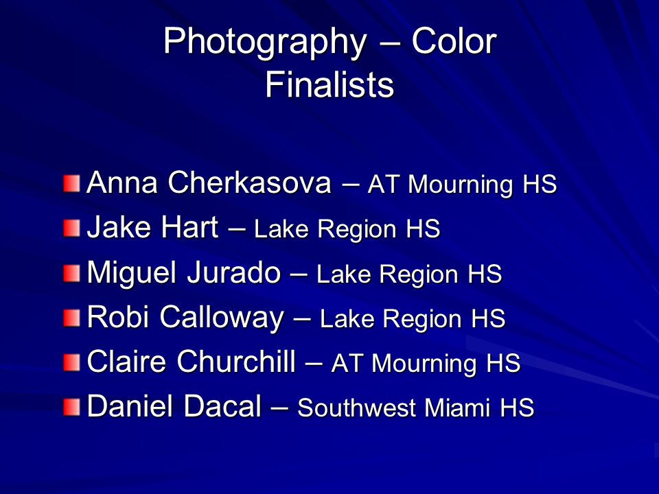 Photography – Color Finalists