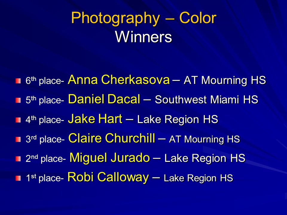 Photography – Color Winners