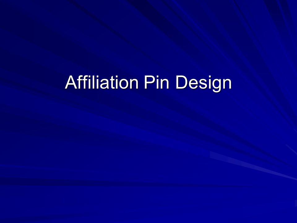Affiliation Pin Design