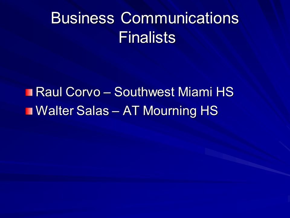 Business Communications Finalists