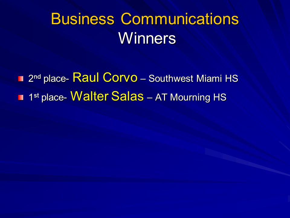 Business Communications Winners