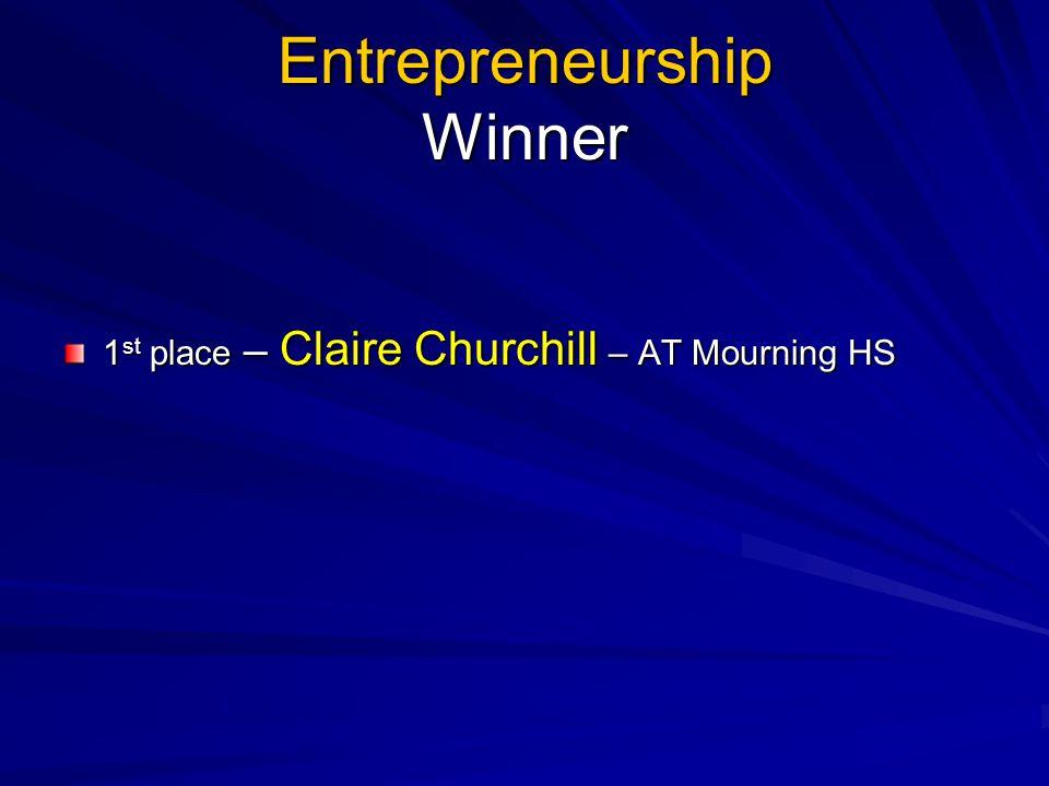 Entrepreneurship Winner