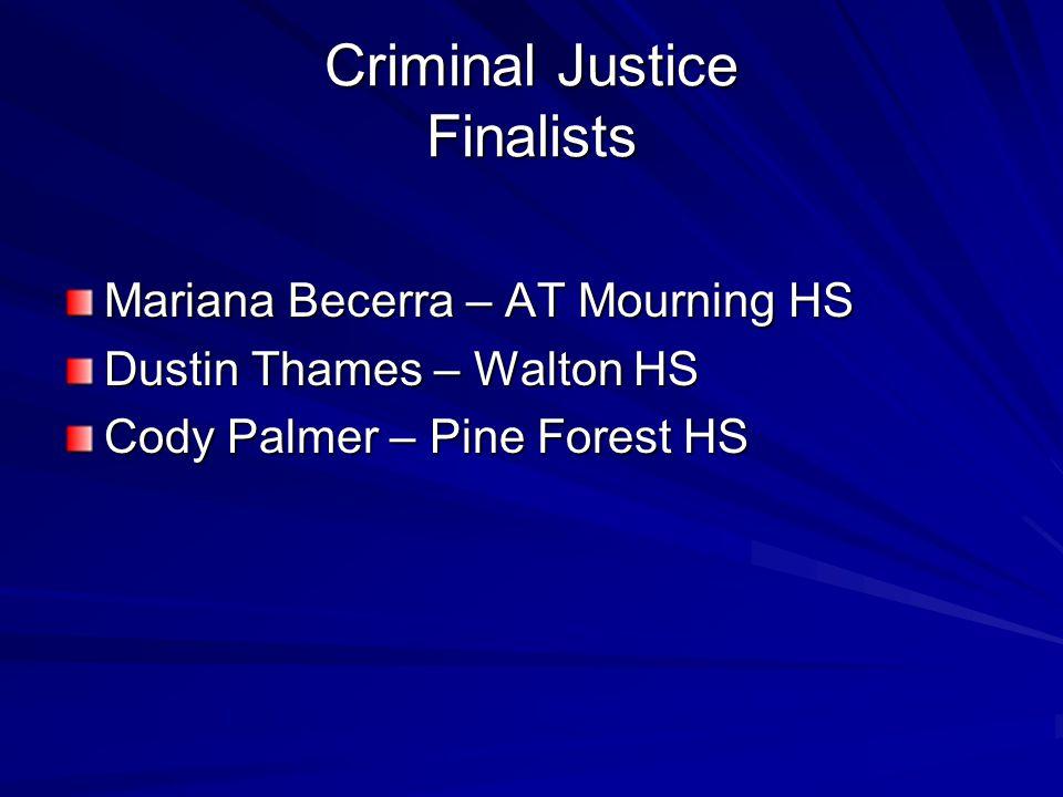 Criminal Justice Finalists
