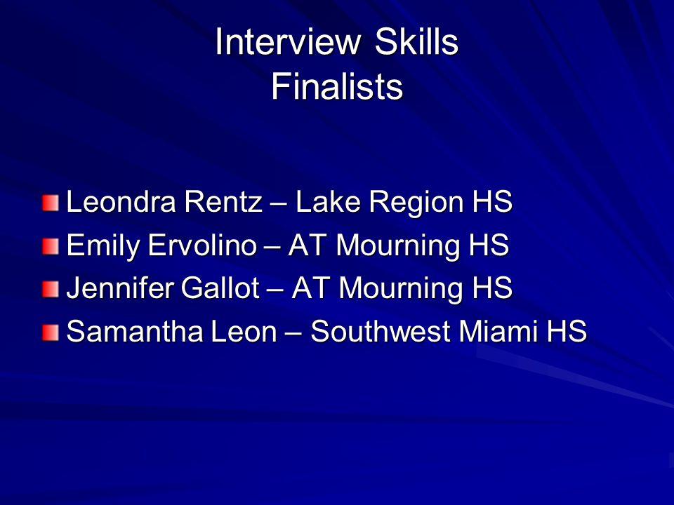 Interview Skills Finalists