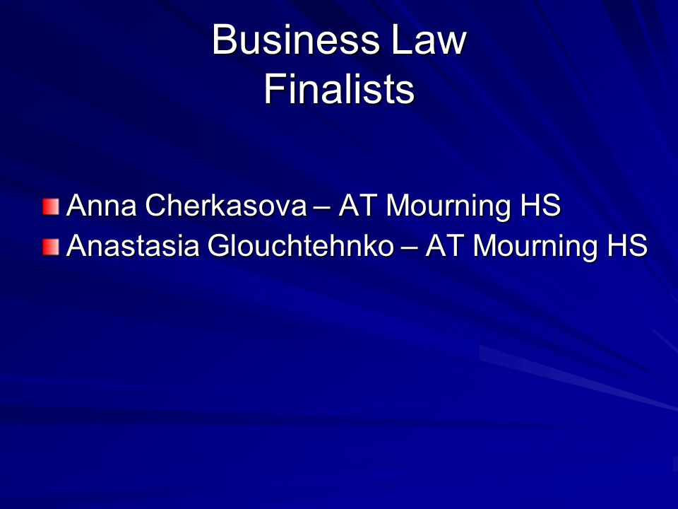 Business Law Finalists