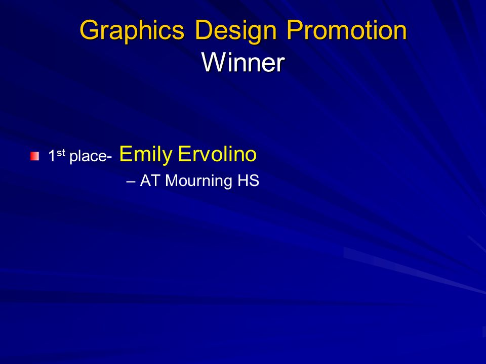 Graphics Design Promotion Winner