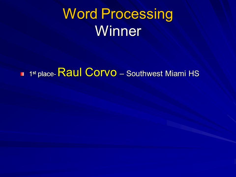 Word Processing Winner
