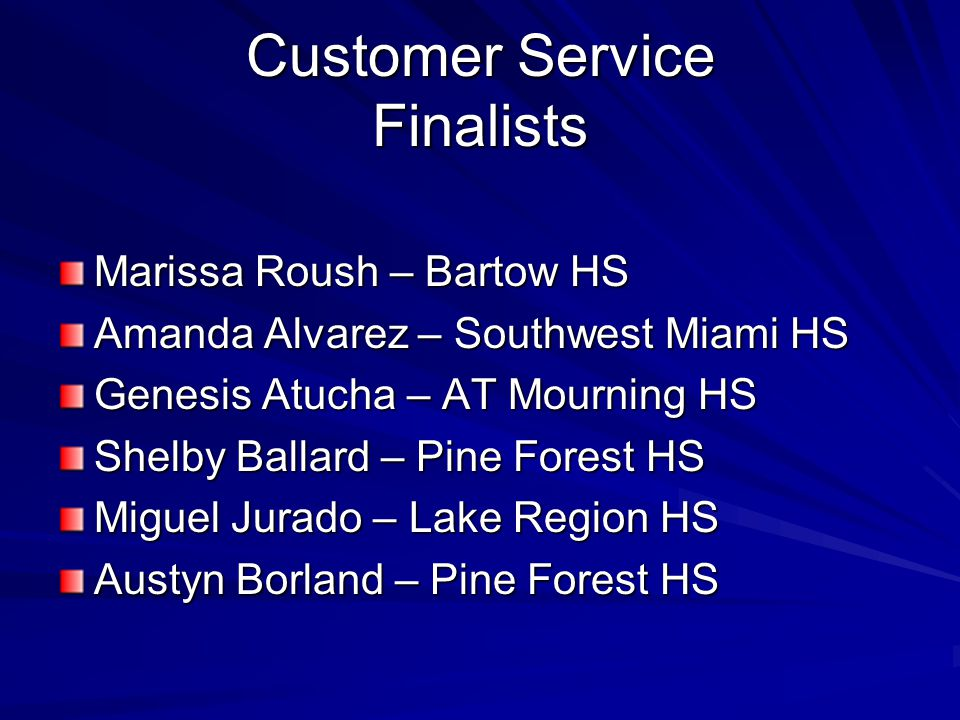 Customer Service Finalists