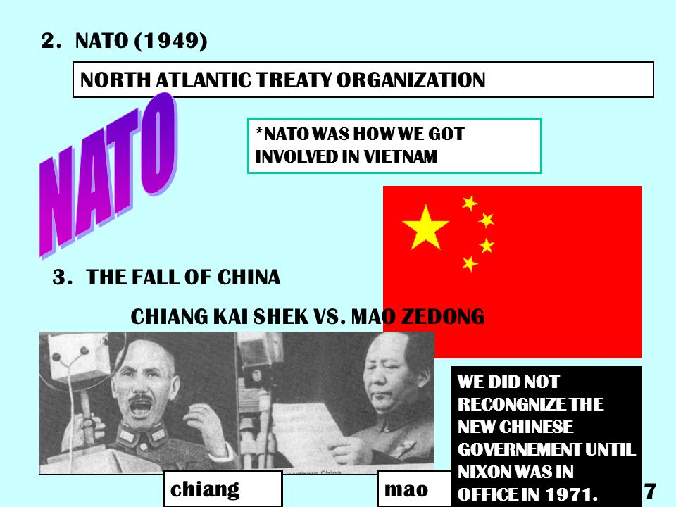 NATO 2. NATO (1949) NORTH ATLANTIC TREATY ORGANIZATION