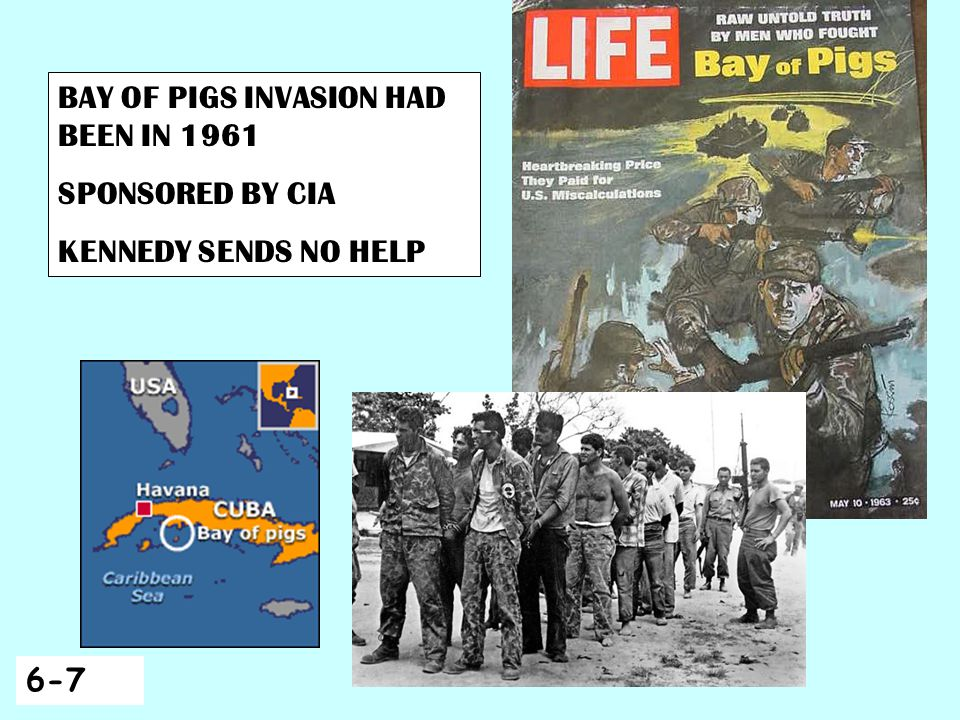 BAY OF PIGS INVASION HAD BEEN IN 1961