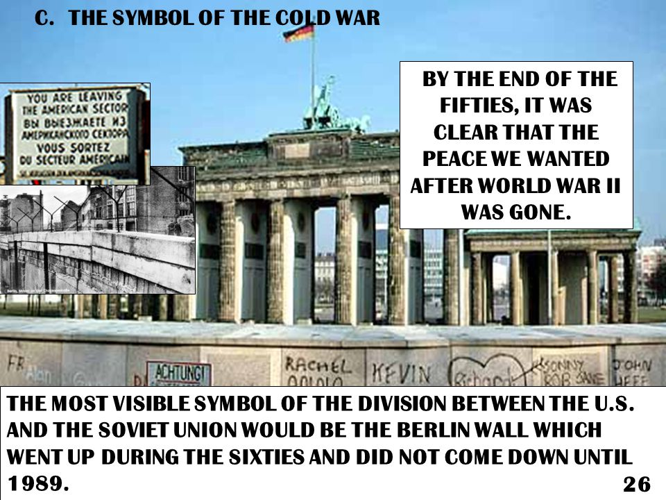 C. THE SYMBOL OF THE COLD WAR
