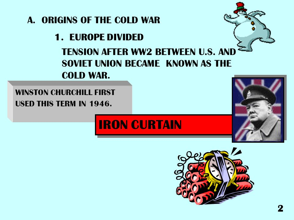 IRON CURTAIN A. ORIGINS OF THE COLD WAR 1. EUROPE DIVIDED