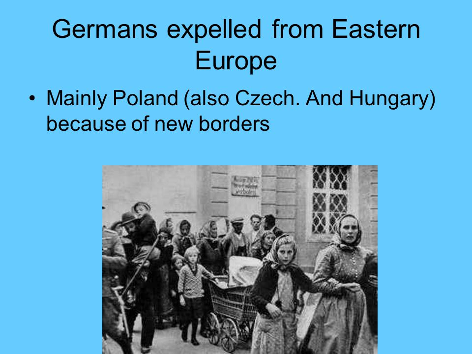 Germans expelled from Eastern Europe