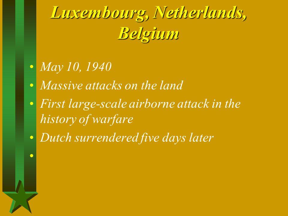 Luxembourg, Netherlands, Belgium