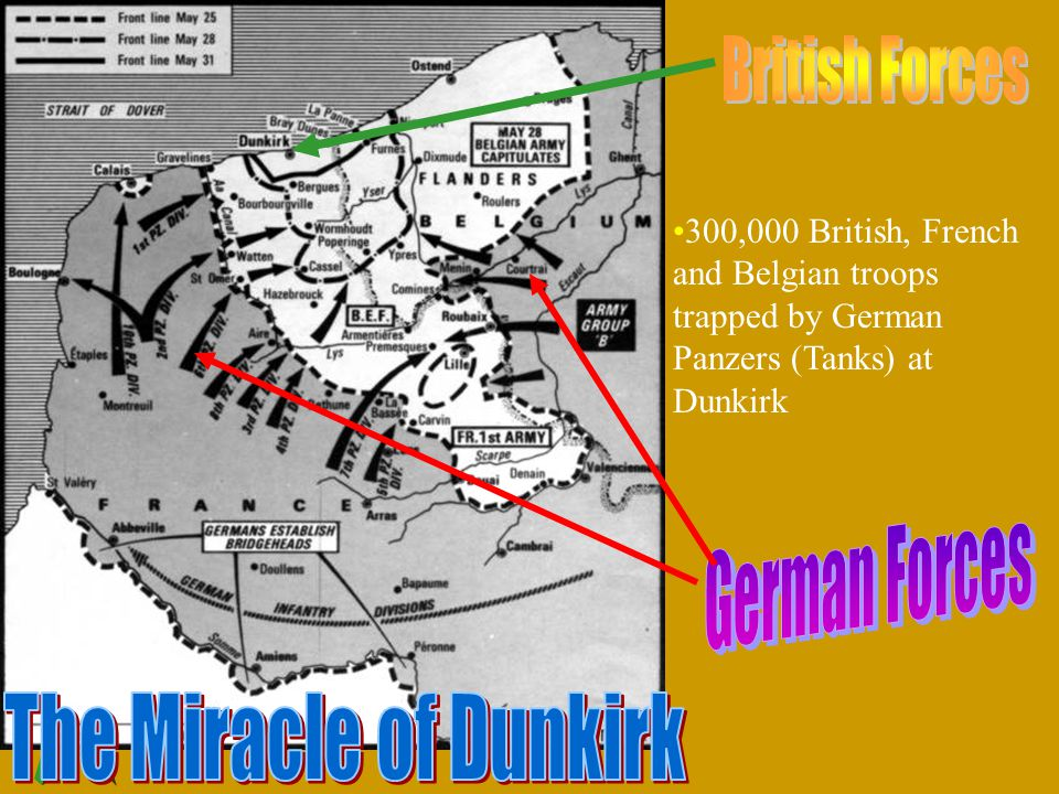 The Miracle of Dunkirk British Forces German Forces