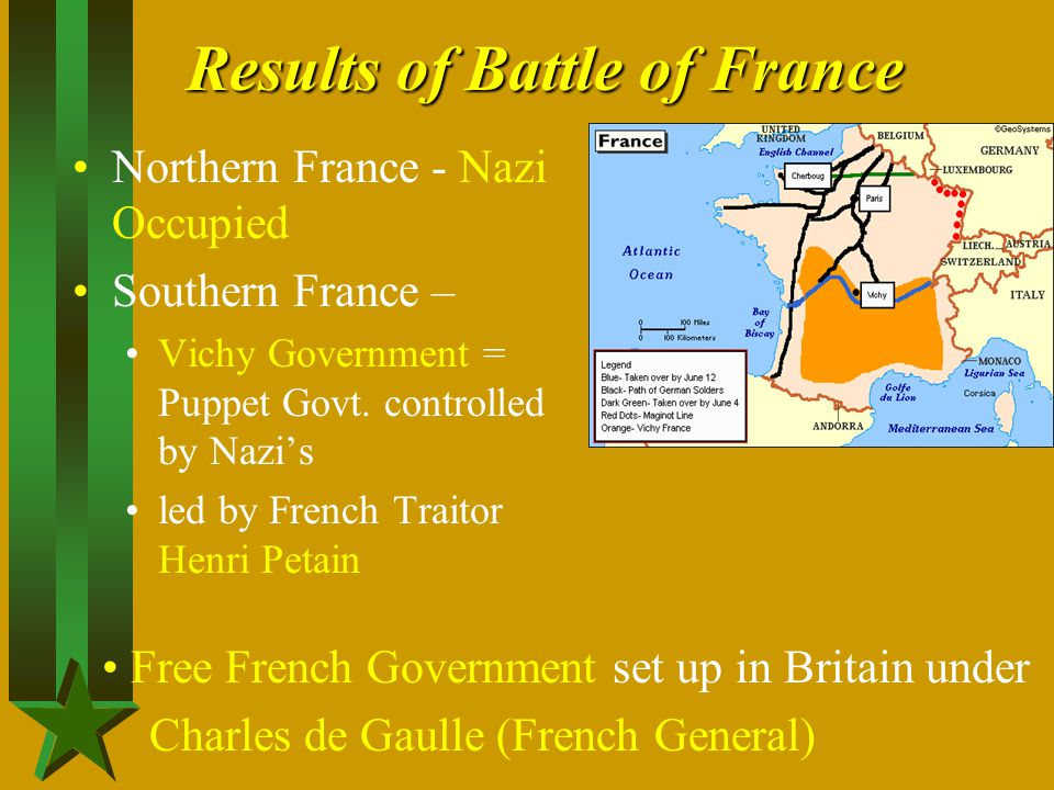 Results of Battle of France