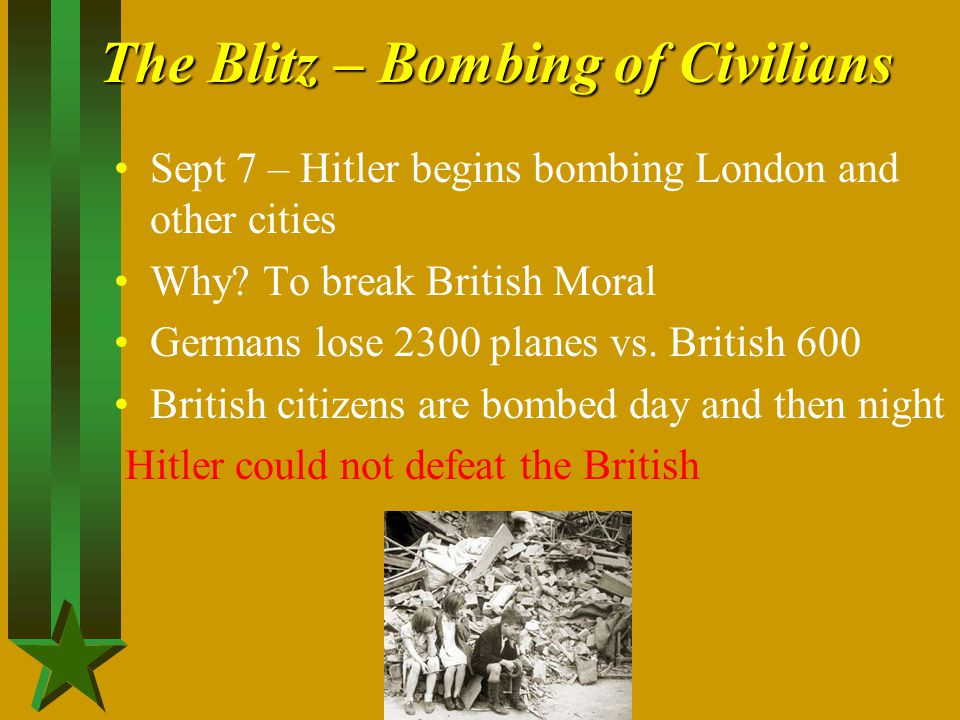 The Blitz – Bombing of Civilians