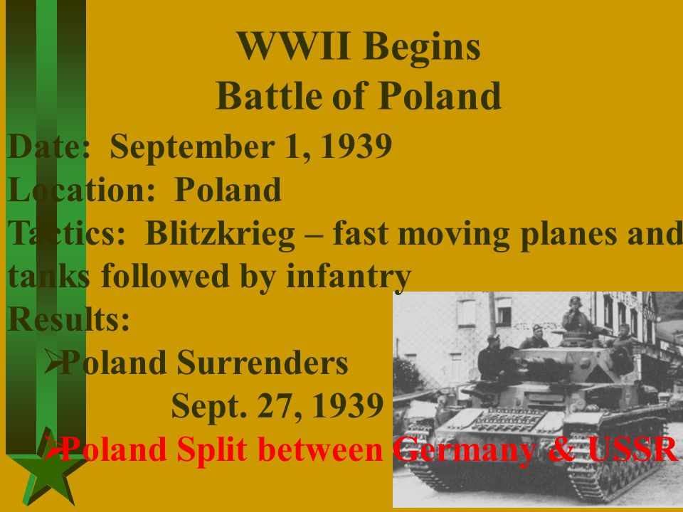 WWII Begins Battle of Poland