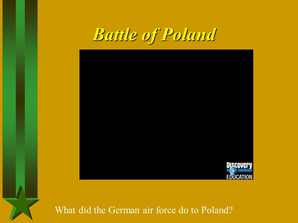 Battle of Poland What did the German air force do to Poland
