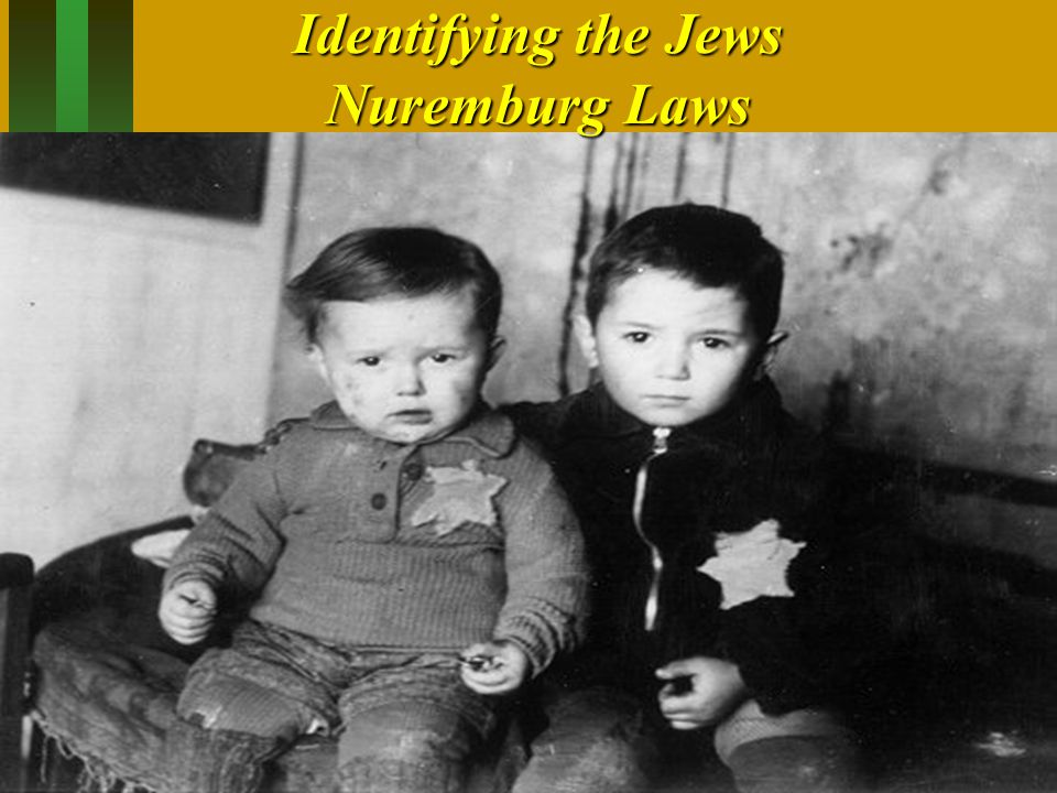Identifying the Jews Nuremburg Laws