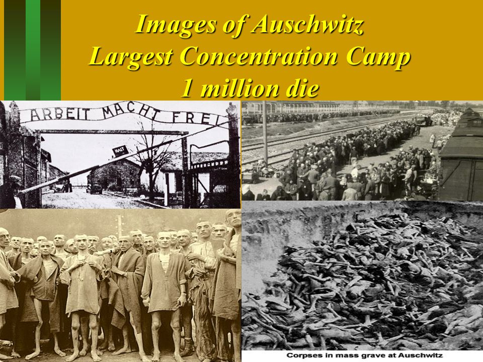 Images of Auschwitz Largest Concentration Camp 1 million die