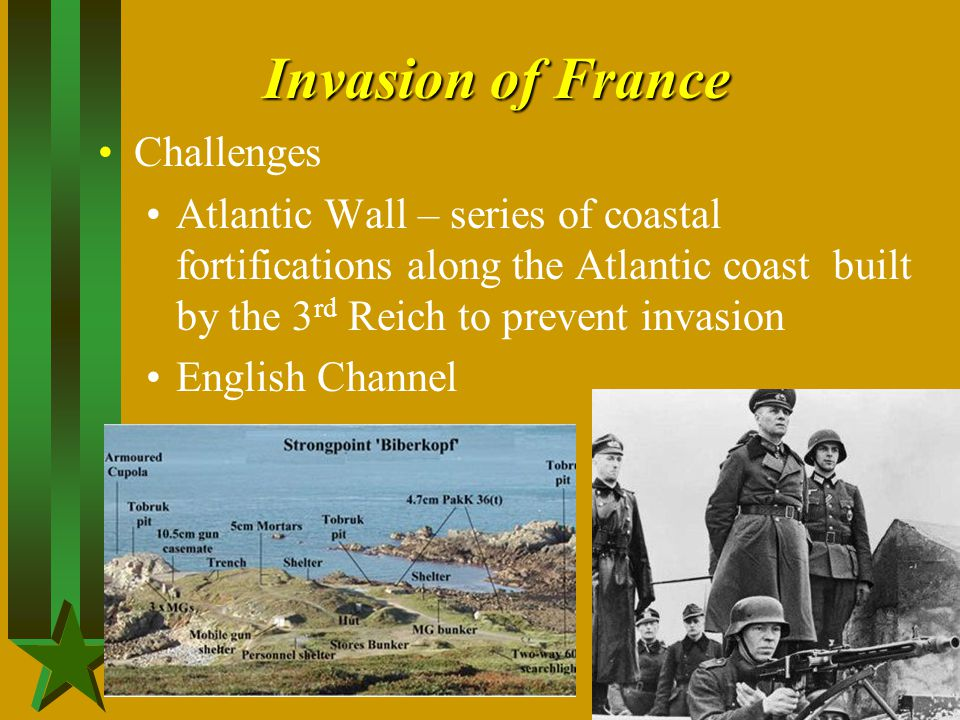 Invasion of France Challenges