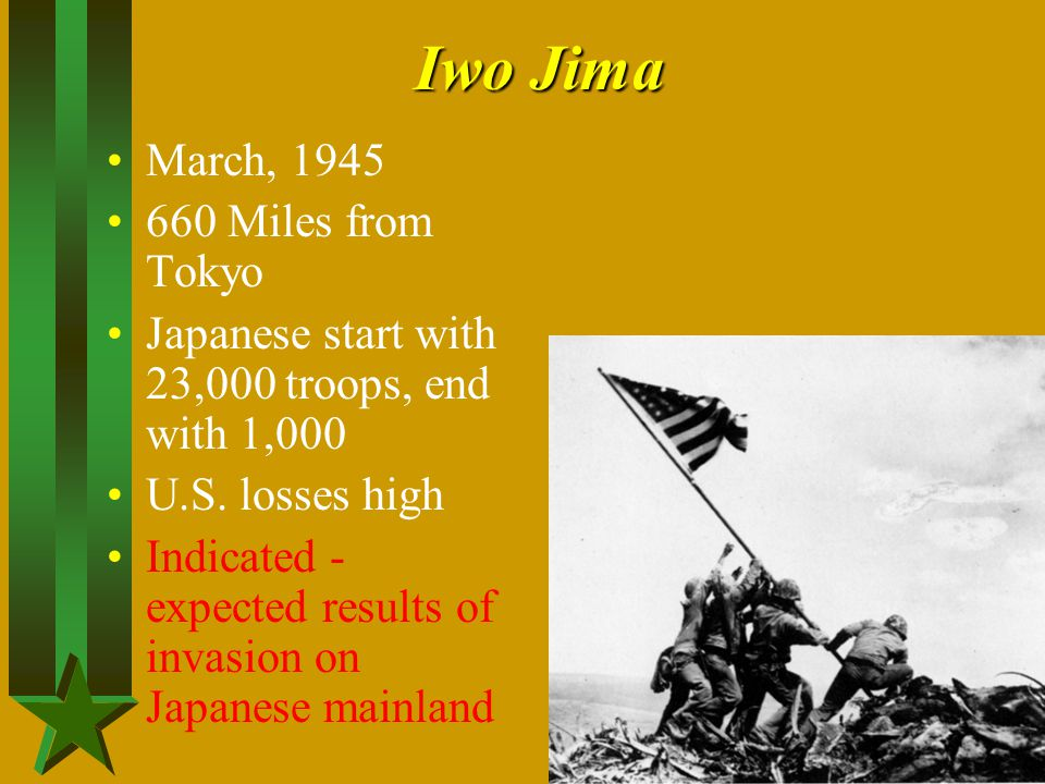 Iwo Jima March, 1945 660 Miles from Tokyo
