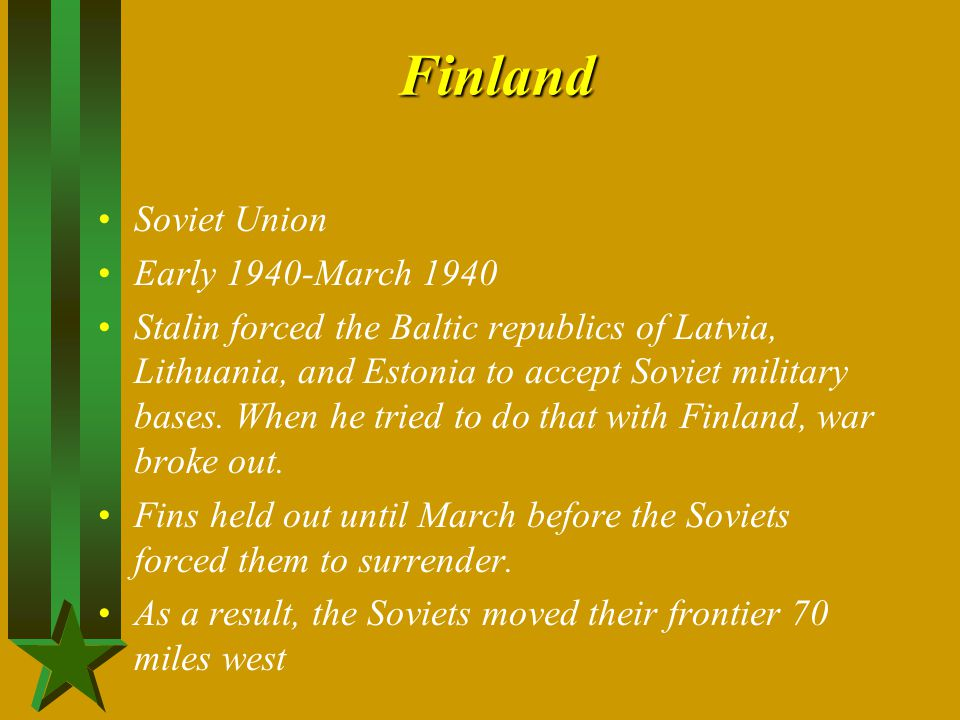 Finland Soviet Union Early 1940-March 1940