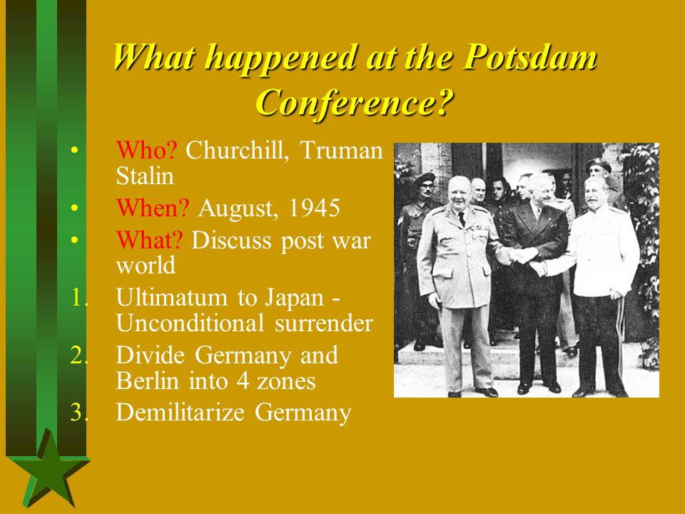 What happened at the Potsdam Conference