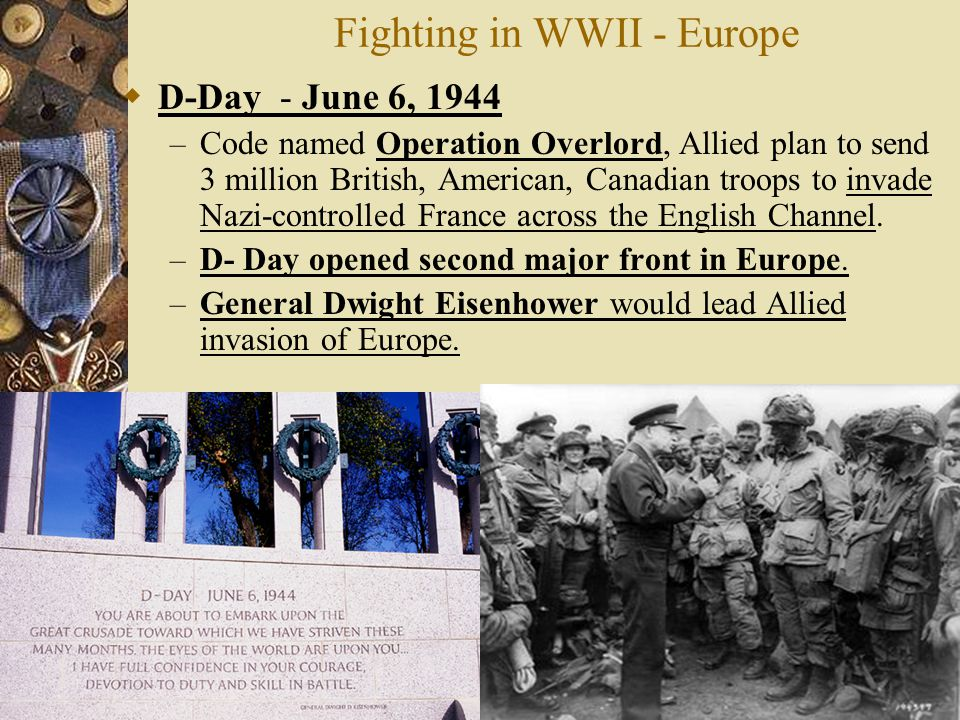 Fighting in WWII - Europe