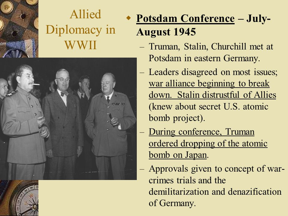 Allied Diplomacy in WWII